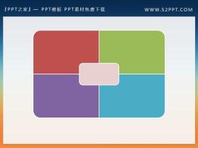 社交网络背景的蓝天白云PPT文本框素材