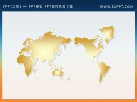 一组世界地图幻灯片小插图素材下载