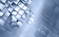 三维立体科技方块背景、PPT幻灯片背景素材