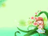 可爱的小女孩幻灯片ppt背景图片