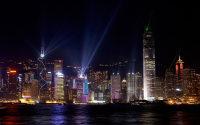 香港夜景城市桥梁建筑商务高清ppt宝藏背景图片