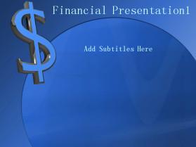 金融货币蓝色PPT模板