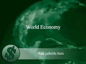 绿色虚幻背景PPT模板