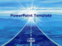 深蓝光芒经典PPT模板