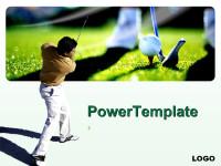 高尔夫主题PPT模板