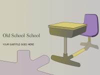 素雅简约课桌背景PPT模板