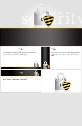安全安防安保主题PPT模板