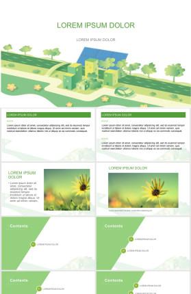 太阳能生态宜居城市PPT模板