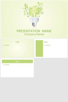 创意环保节能幻灯片模板