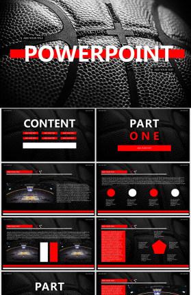 NBA篮球主题PPT模板