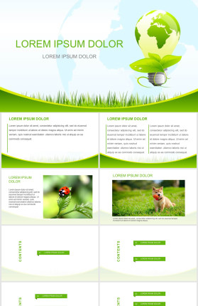 节约能源保护地球PPT模板