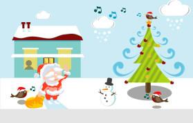 精美手绘圣诞节PPT素材