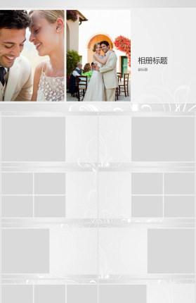 婚礼婚纱照相册PPT模板