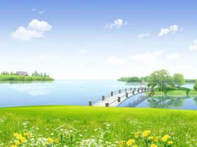 小桥流水美景PPT背景图片