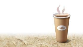 一杯咖啡幻灯片背景图片