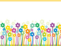 多彩可爱小花PPT背景图片