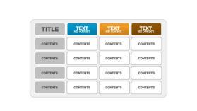 大气PowerPoint表格模板