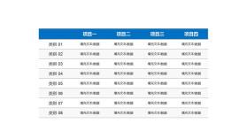 实用的PPT数据表格模板