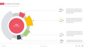 环形比例数据分析PPT图形素材