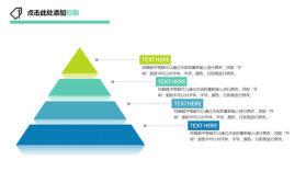 三角金字塔形PPT层级关系图