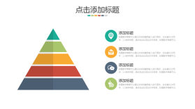 三角形层次层级关系PPT图表