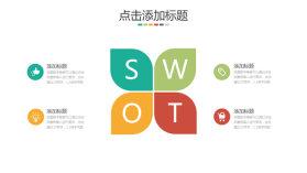 四叶草SWOT分析说明PPT模板